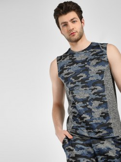 K ACTIVE KOOVS Camo Panel Printed Tank