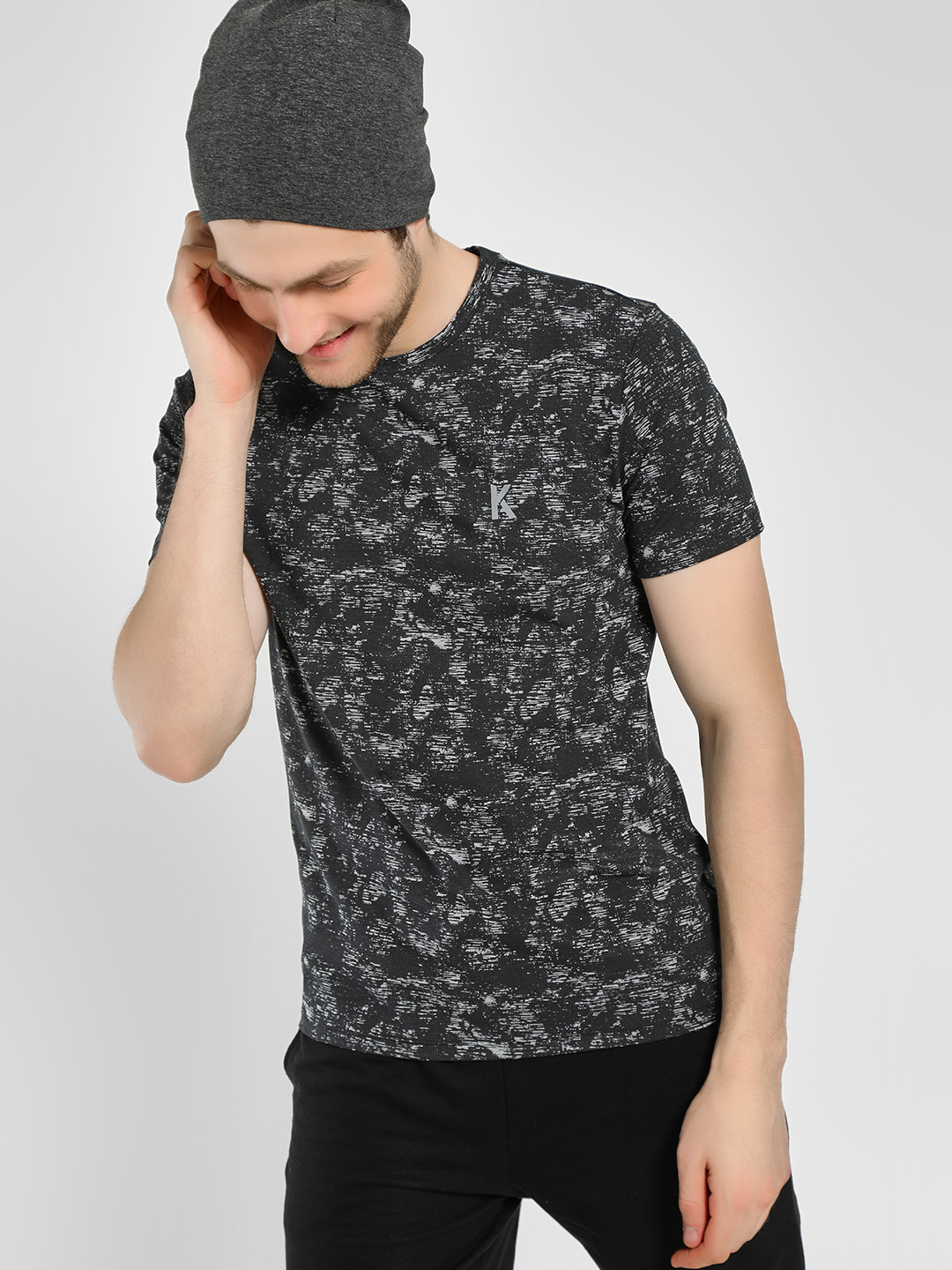K ACTIVE Multi Space Dyed Mesh T-Shirt 1