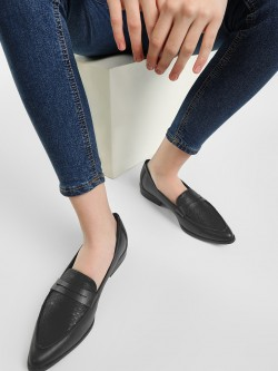 New Look Crocskin Vamp Penny Loafers