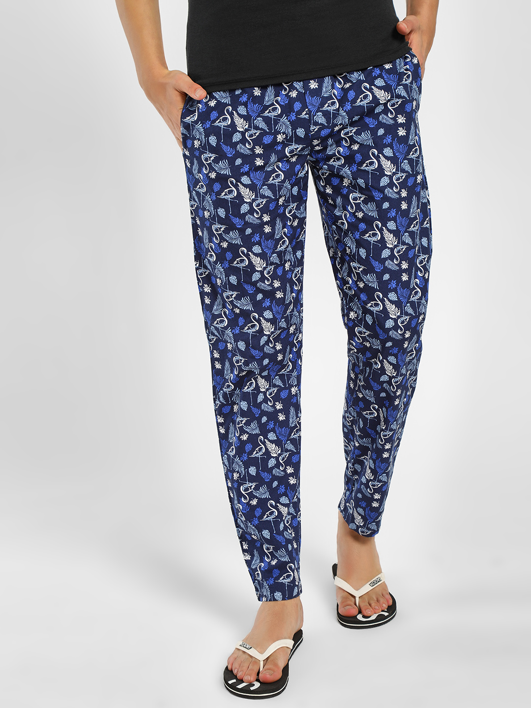 Jack & Jones Black Pelican Bird Print Lounge Pants 1
