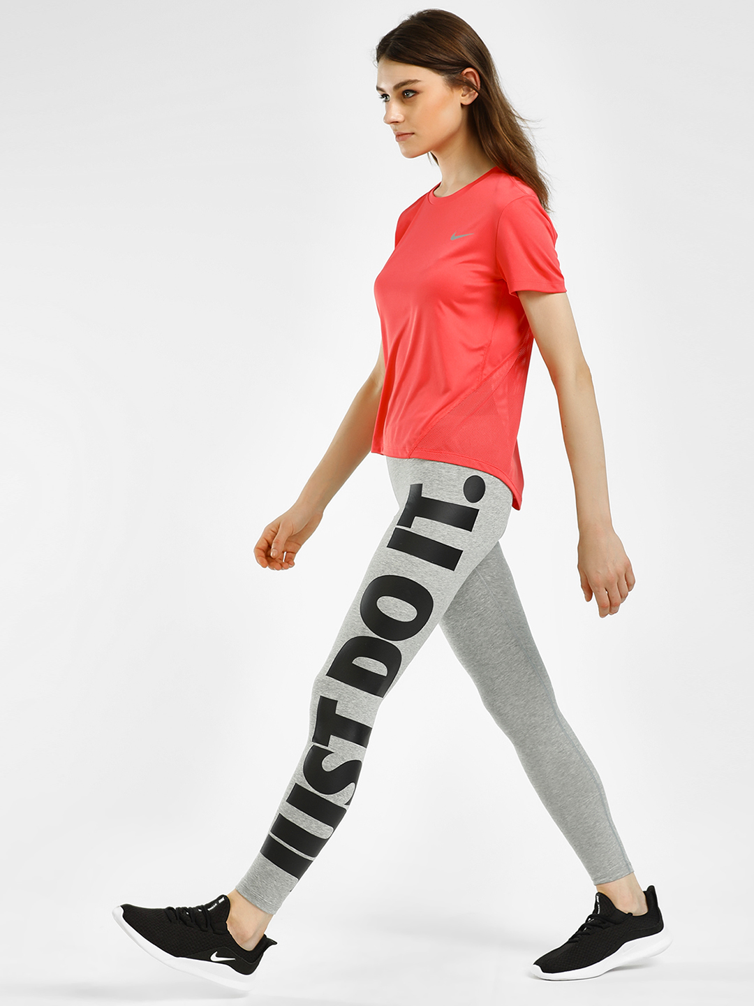 Nike Grey AS Sportswear Just Do It Leggings 1