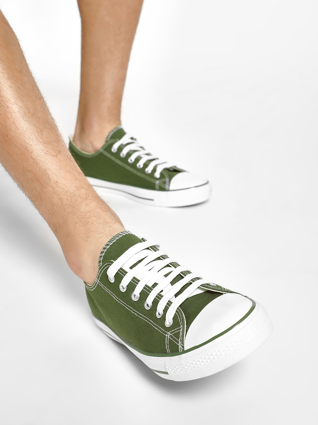 KOOVS Green Lace-Up Gusset Sneakers 1
