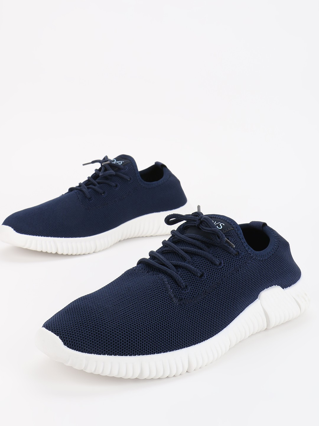 KOOVS Blue Mesh Low Top Sneakers 1