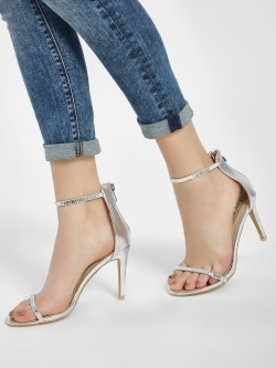 Intoto Crystal Embellished Strap Heeled Sandals