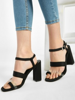 Intoto Clear Strap Block Heeled Sandals