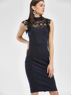 Quiz Lace Detail Midi Dress