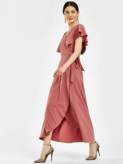 Femella Cape Wrap Maxi Dress