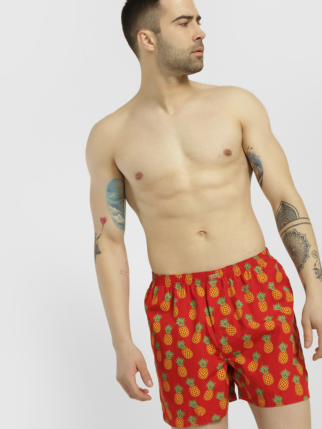 Flying Machine Red Pineapple Print Boxers 1