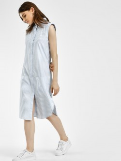 Spring Break Shimmer Stripe Shirt Dress