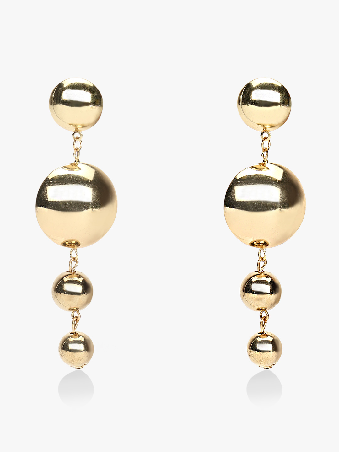 Style Fiesta Gold Concentric Drop Statement Earrings 1