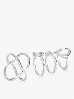 Style Fiesta Multi-Shape Rings (Set of 4)