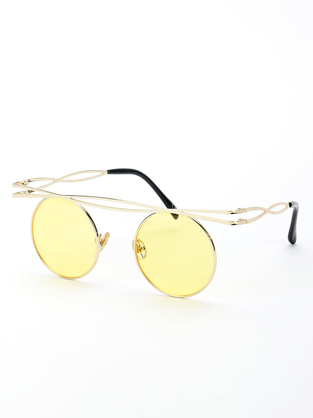 Style Fiesta Yellow Coloured Lens Round Sunglasses 1