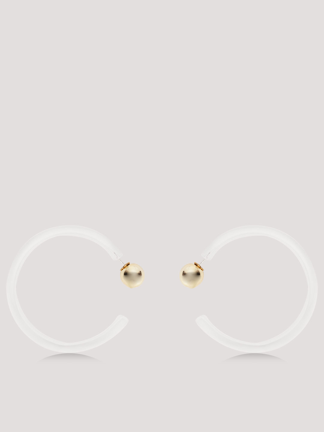 Style Fiesta White Transparent Hoops 1