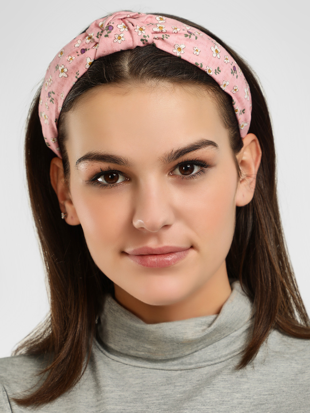 Style Fiesta Pink Floral Print Hairband 1