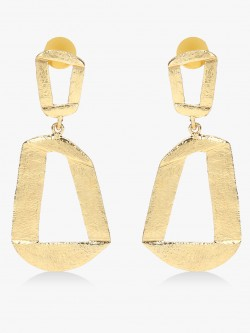 Style Fiesta Asymmetrical Geometric Statement Earrings