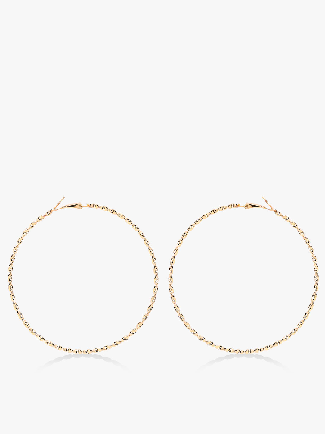 Style Fiesta Gold Large Braided Hoops 1