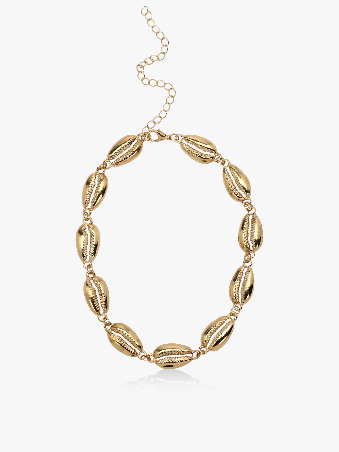 Style Fiesta Gold Shell Detail Choker Necklace 1