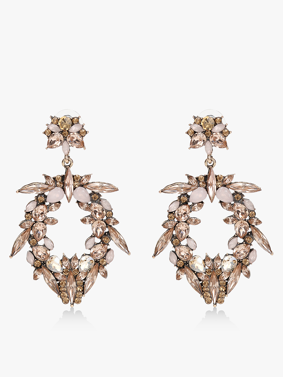 Style Fiesta Rose Gold Embellished Crystal Earrings 1