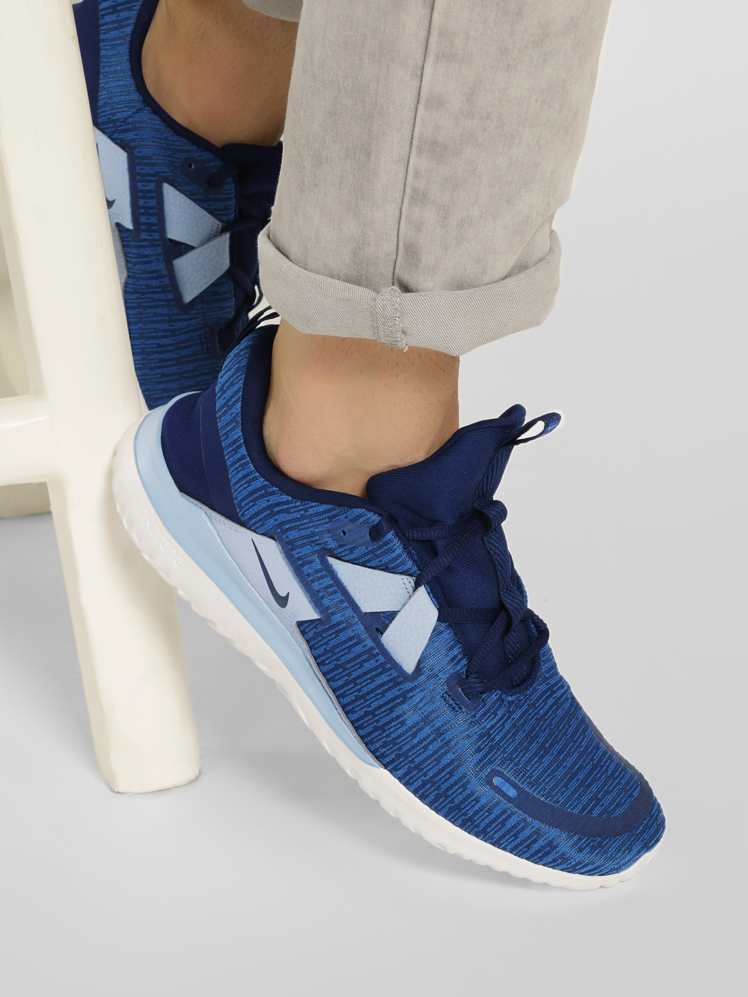 Nike Blue Renew Arena Shoes 1