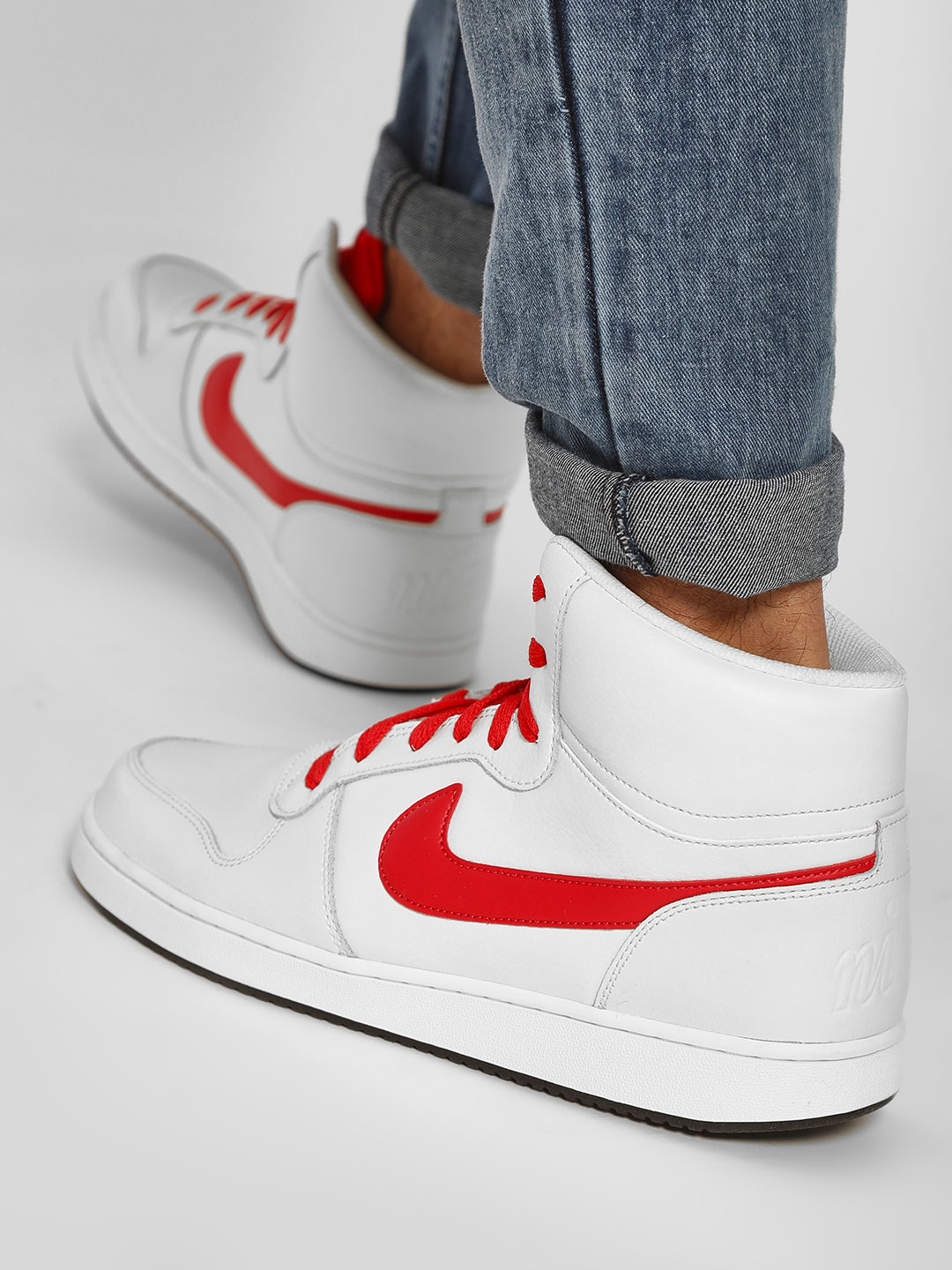 Nike White Ebernon Mid Shoes 1