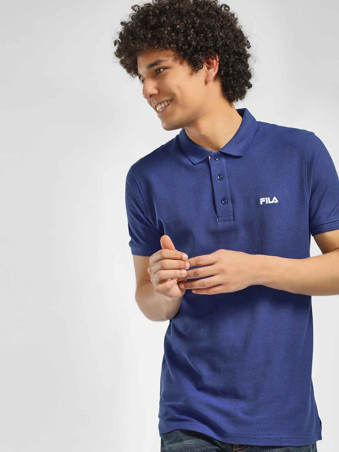 Fila Blue Logo Polo Shirt 1