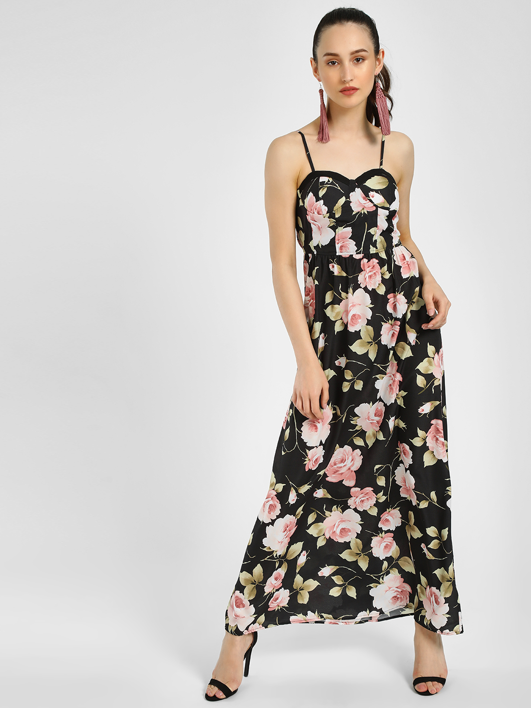 MIWAY Print Floral Print Sleeveless Maxi Dress 1