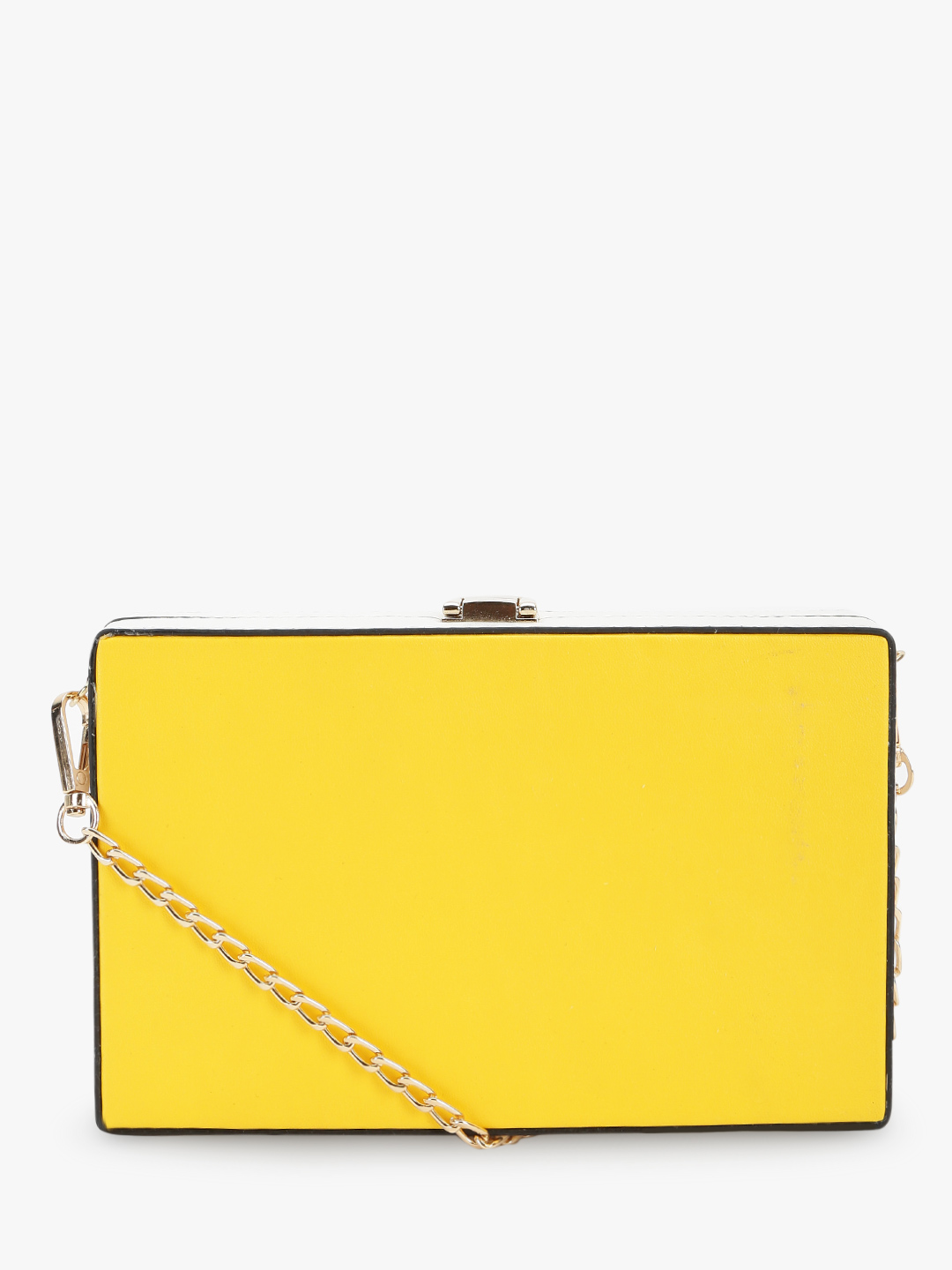 Origami Lily YELLOW/WHITE Colour Block Box Sling Bag 1