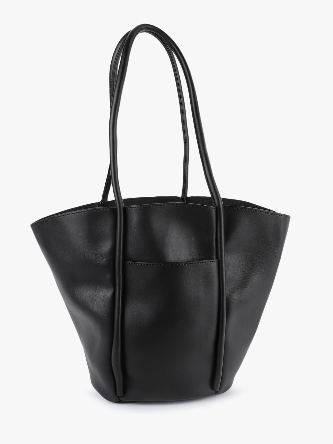 Origami Lily Black Bucket Tote Bag 1