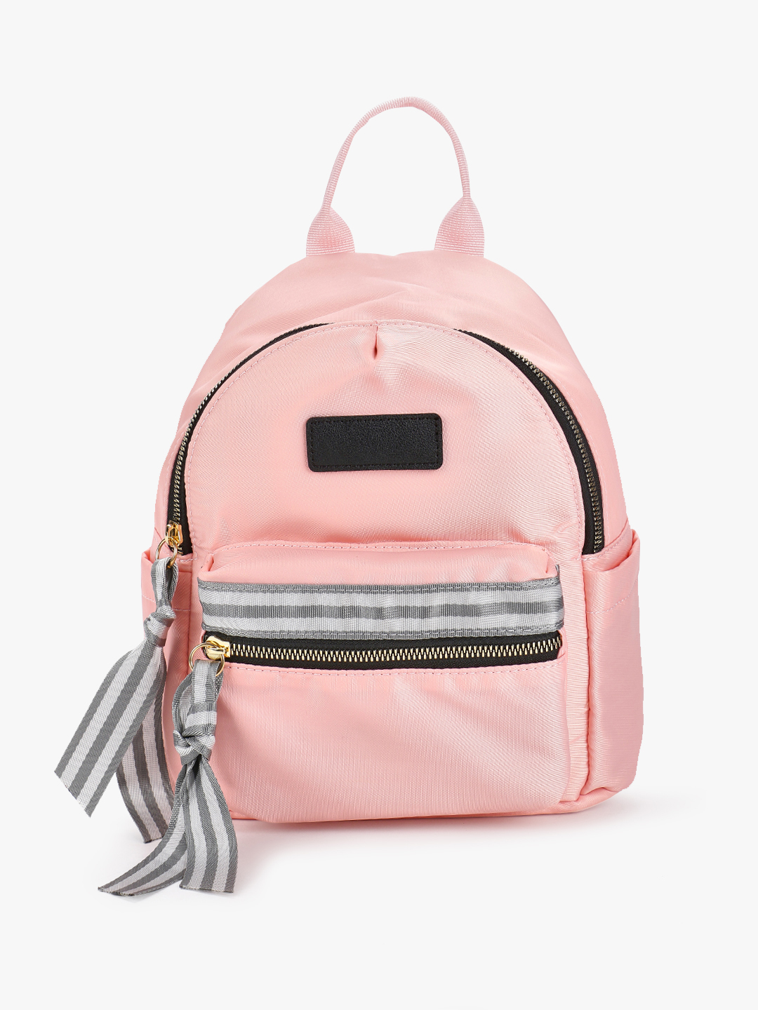 Origami Lily Pink Contrast Tape Mini Backpack 1