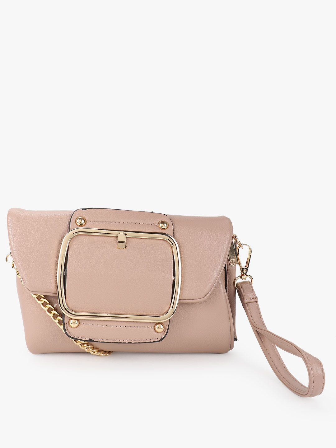 Origami Lily Pink Big Buckle Detail Sling Bag 1