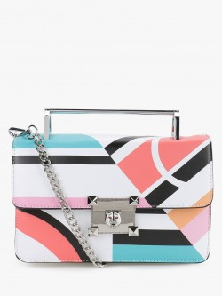 Origami Lily Colour Block Patterned Handbag
