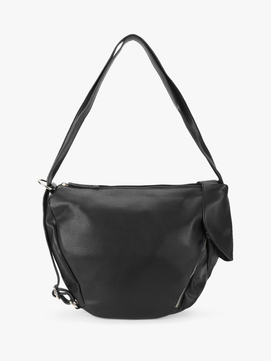 Origami Lily Black Two-In-One Tote Cum Backpack 1