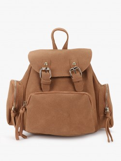 Origami Lily Suede Backpack