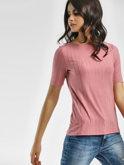 Vero Moda Ribbed Short Sleeve T-Shirt