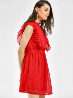 Vero Moda Ruffle Detail Shift Dress