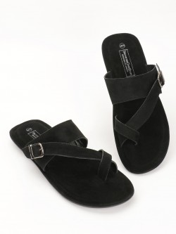 Bolt Of The Good Stuff Suede Crossover Strap Sandals