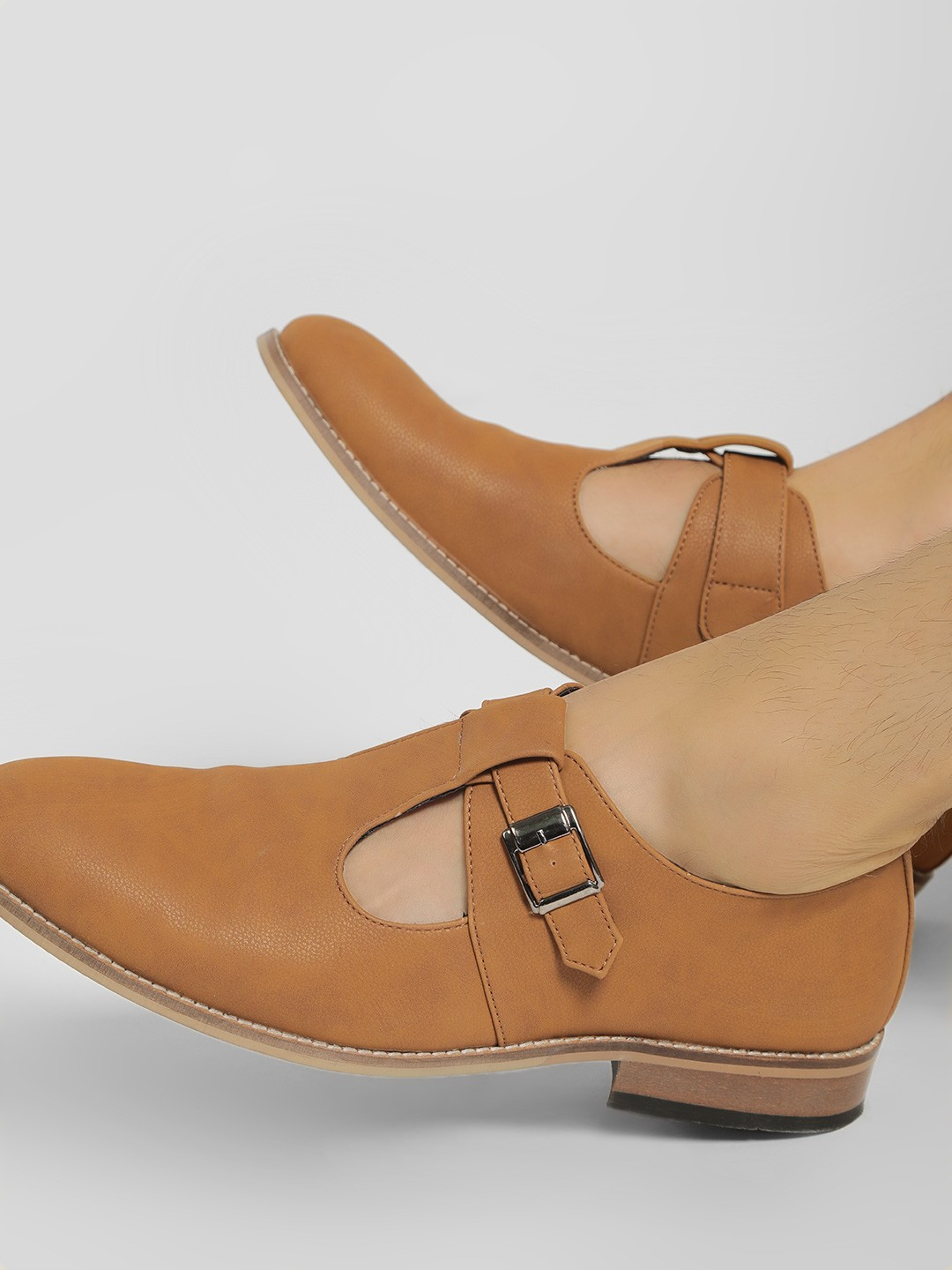 Rodolfo Darrell Brown Cut-Out Buckle Detail Loafers 1