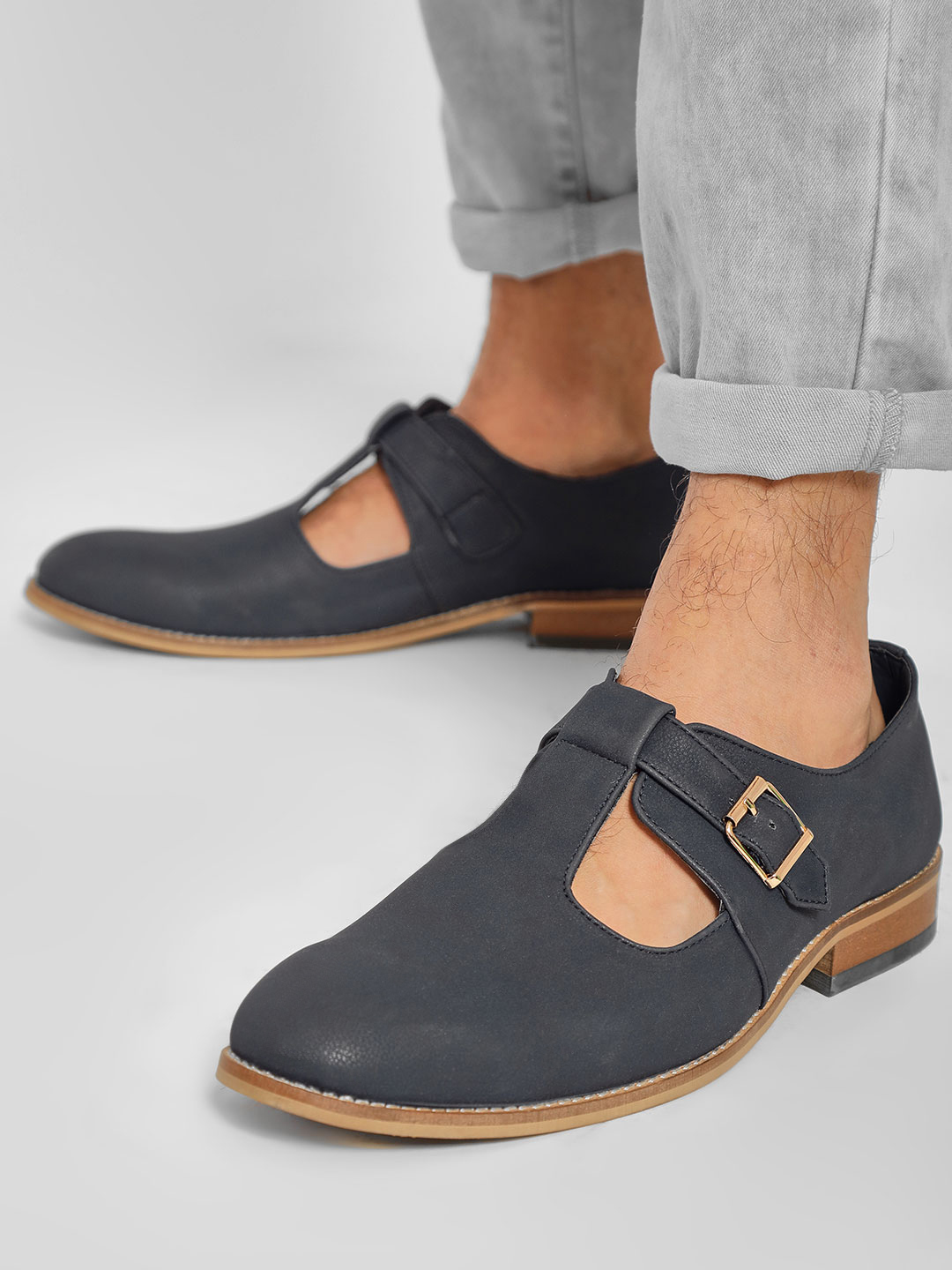 Rodolfo Darrell Blue Cut-Out Buckle Detail Loafers 1