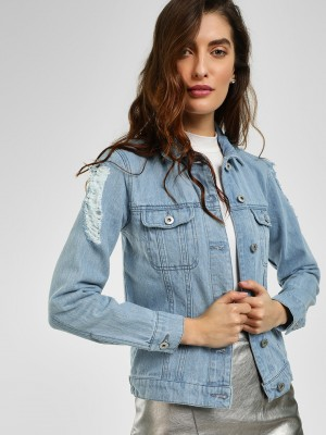 BLUE SAINT Distressed Washed D...