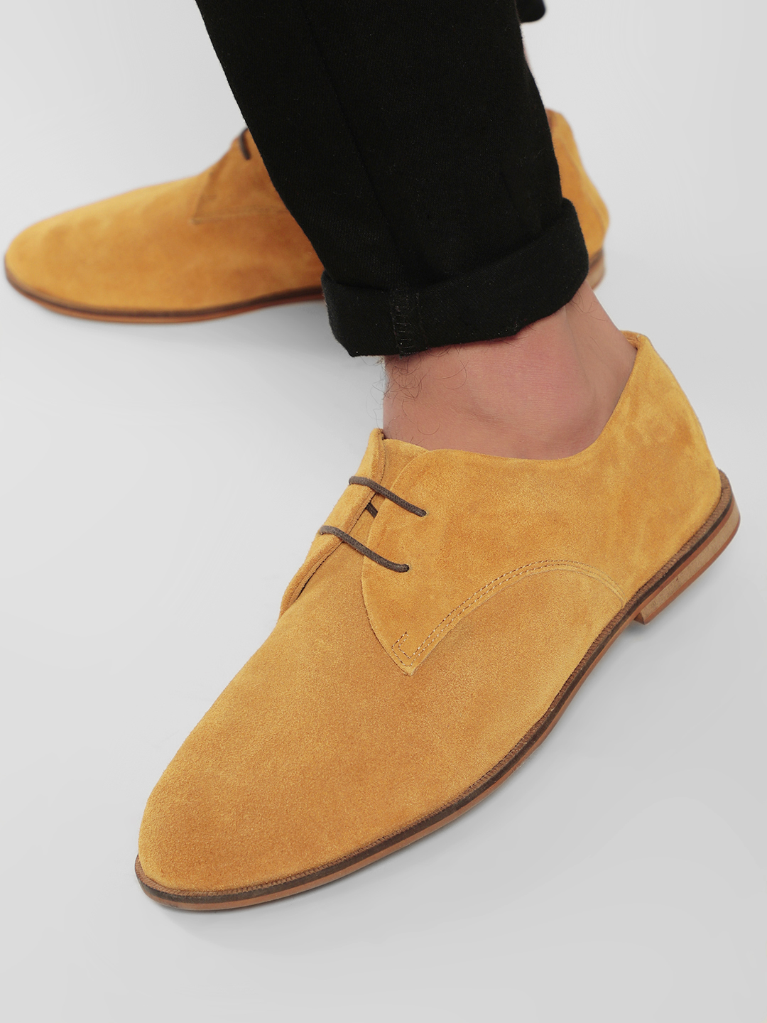 Marcello & Ferri Brown Suede Leather Derby Shoes 1