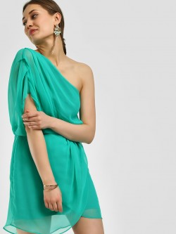 Noble Faith One Shoulder Shift Dress