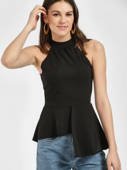 Quiz Halter Neck Asymmetric Peplum Blouse