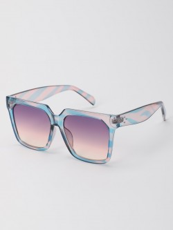 Pataaka Ombre Tinted Lens Square Sunglasses