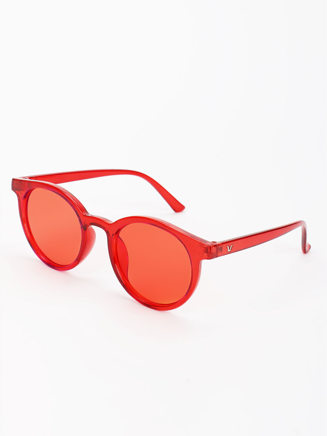 Pataaka Red Coloured Lens Round Sunglasses 1