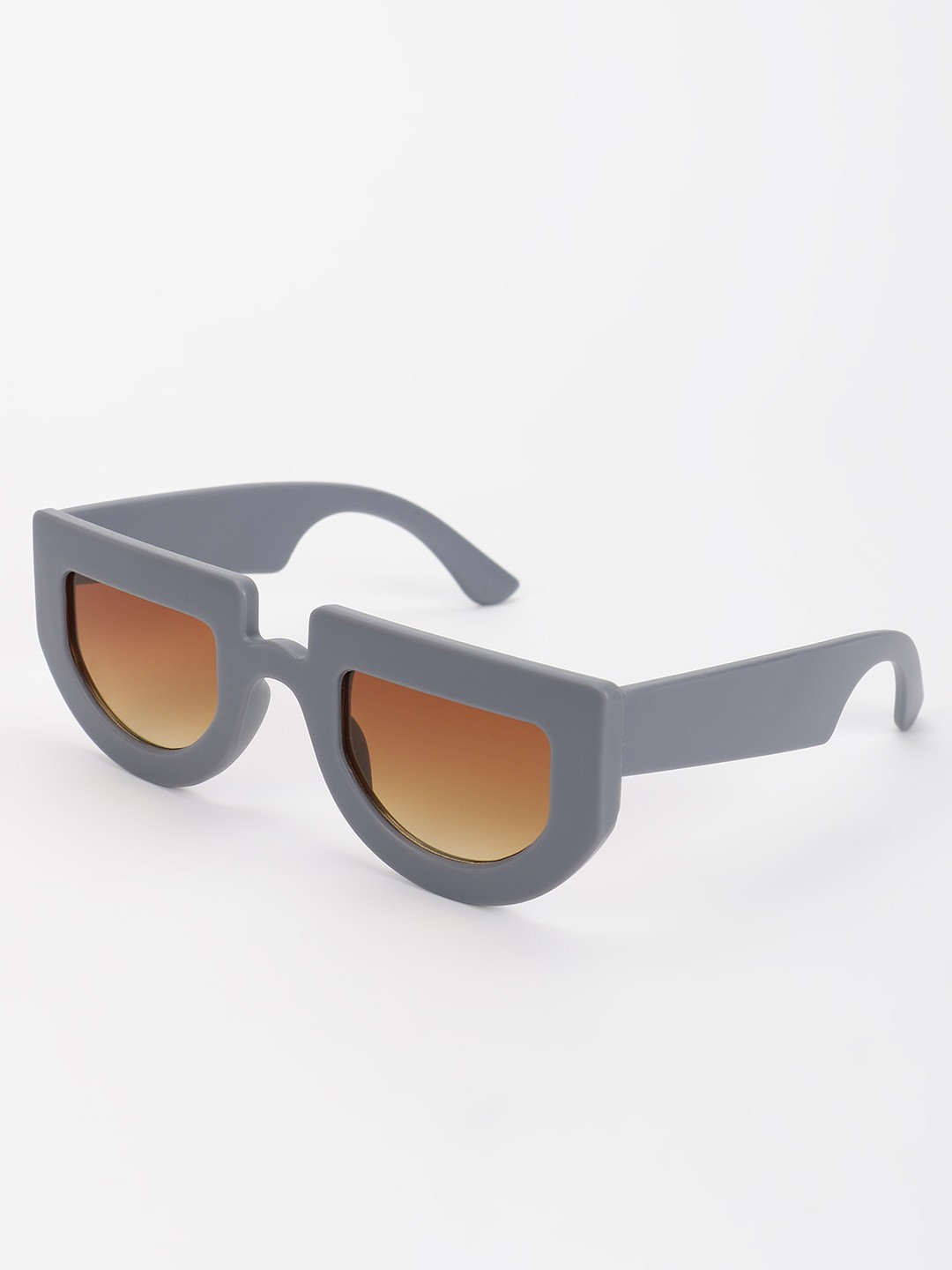 Pataaka Grey Matte Finish Retro Sunglasses 1