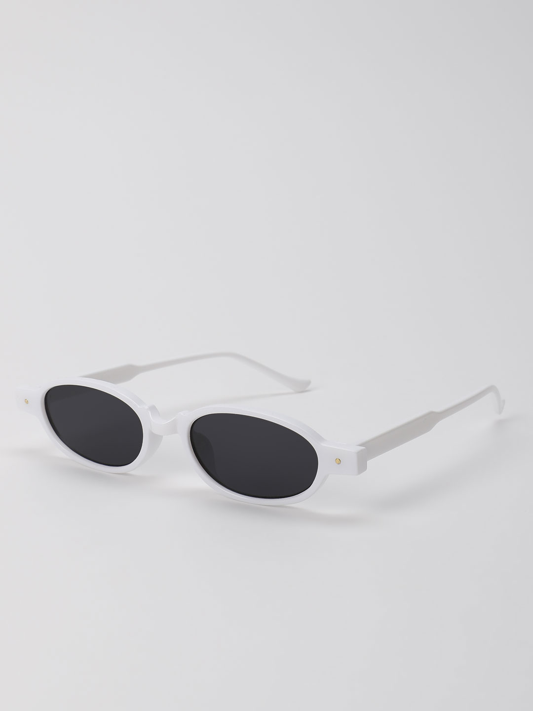 Pataaka White Coloured Frame Retro Sunglasses 1