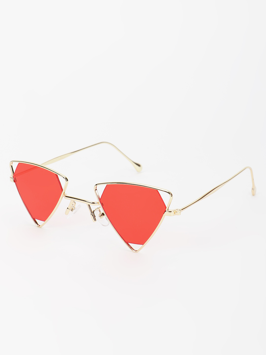 Pataaka Red Triangle Frame Retro Sunglasses 1