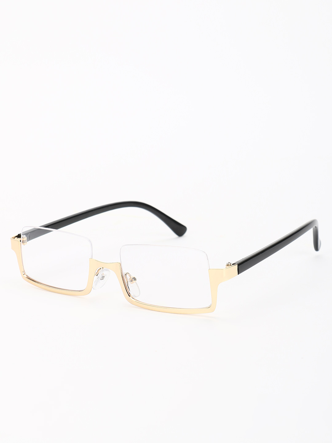 Pataaka White Clear Lens Square Sunglasses 1