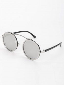 Pataaka Browbar Metallic Round Sunglasses