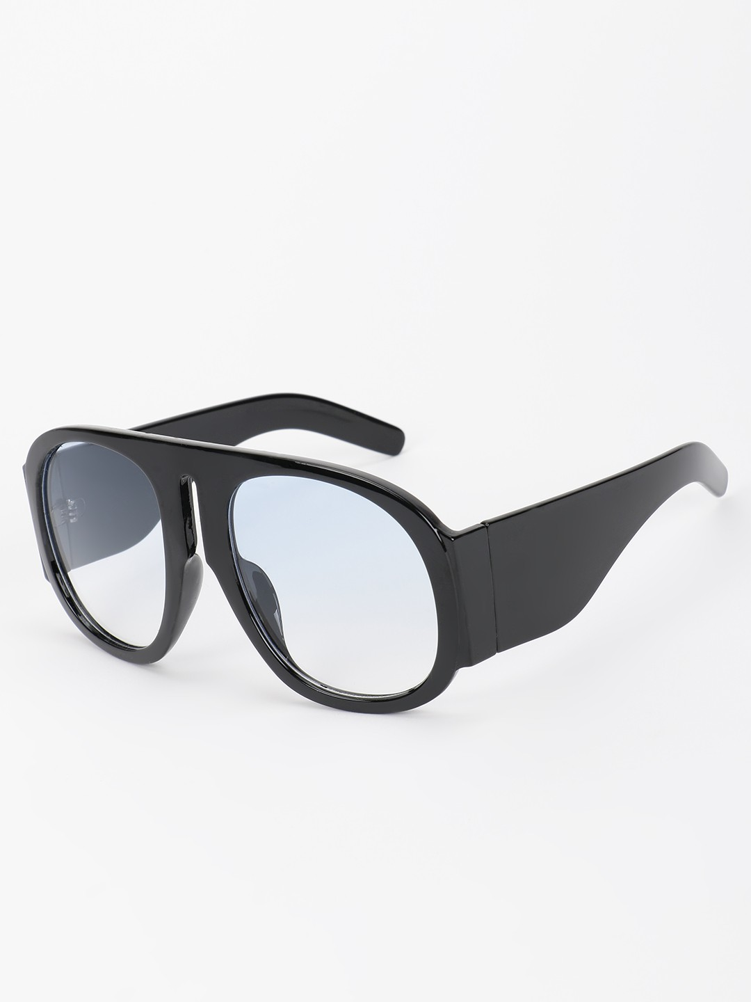 Pataaka Black Broad Frame Pilot Sunglasses 1